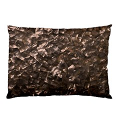 Glitter Rose Gold Shimmering Mother of Pearl Nacre Pillow Case (Two Sides)