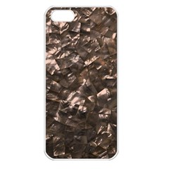 Glitter Rose Gold Shimmering Mother of Pearl Nacre Apple iPhone 5 Seamless Case (White)
