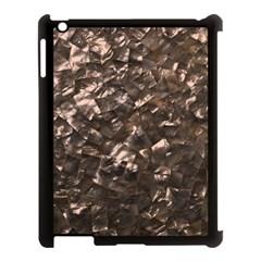 Glitter Rose Gold Shimmering Mother of Pearl Nacre Apple iPad 3/4 Case (Black)