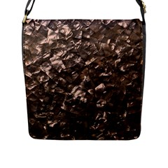 Glitter Rose Gold Shimmering Mother of Pearl Nacre Flap Messenger Bag (L)