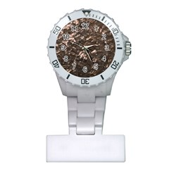 Glitter Rose Gold Shimmering Mother of Pearl Nacre Plastic Nurses Watch
