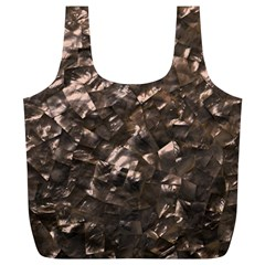 Glitter Rose Gold Shimmering Mother of Pearl Nacre Full Print Recycle Bags (L)