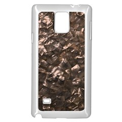 Glitter Rose Gold Shimmering Mother of Pearl Nacre Samsung Galaxy Note 4 Case (White)