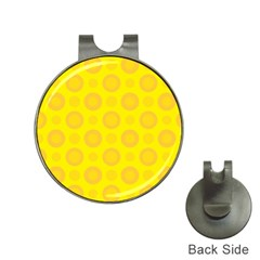 Cheese Background Hat Clips With Golf Markers