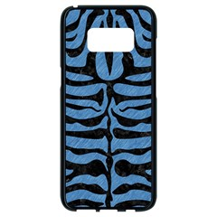 Skin2 Black Marble & Blue Colored Pencil (r) Samsung Galaxy S8 Black Seamless Case