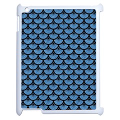 Scales3 Black Marble & Blue Colored Pencil (r) Apple Ipad 2 Case (white)