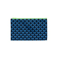 Scales3 Black Marble & Blue Colored Pencil (r) Cosmetic Bag (xs)