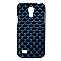 Scales3 Black Marble & Blue Colored Pencil Samsung Galaxy S4 Mini (gt I9190) Hardshell Case