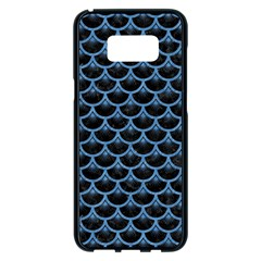 Scales3 Black Marble & Blue Colored Pencil Samsung Galaxy S8 Plus Black Seamless Case