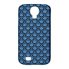 Scales2 Black Marble & Blue Colored Pencil (r) Samsung Galaxy S4 Classic Hardshell Case (pc+silicone)