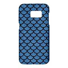 Scales1 Black Marble & Blue Colored Pencil (r) Samsung Galaxy S7 Hardshell Case