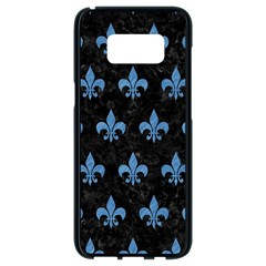 Royal1 Black Marble & Blue Colored Pencil (r) Samsung Galaxy S8 Black Seamless Case