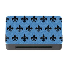 Royal1 Black Marble & Blue Colored Pencil Memory Card Reader With Cf