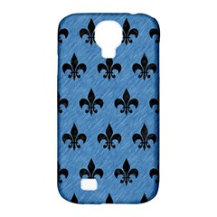 Royal1 Black Marble & Blue Colored Pencil Samsung Galaxy S4 Classic Hardshell Case (pc+silicone)