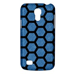 Hexagon2 Black Marble & Blue Colored Pencil (r) Samsung Galaxy S4 Mini (gt I9190) Hardshell Case