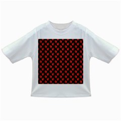 Fresh Bright Red Strawberries on Black Pattern Infant/Toddler T-Shirts