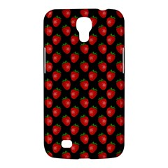 Fresh Bright Red Strawberries on Black Pattern Samsung Galaxy Mega 6.3  I9200 Hardshell Case