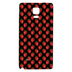 Fresh Bright Red Strawberries on Black Pattern Galaxy Note 4 Back Case