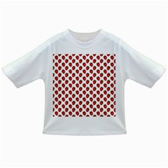 Fresh Bright Red Strawberries on White Pattern Infant/Toddler T-Shirts