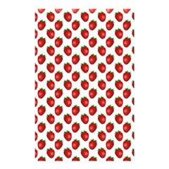 Fresh Bright Red Strawberries on White Pattern Shower Curtain 48  x 72  (Small)