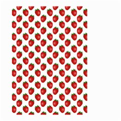 Fresh Bright Red Strawberries on White Pattern Small Garden Flag (Two Sides)