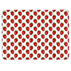 Fresh Bright Red Strawberries on White Pattern Samsung Galaxy Tab 7  P1000 Flip Case