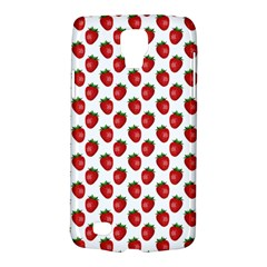 Fresh Bright Red Strawberries on White Pattern Galaxy S4 Active