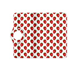 Fresh Bright Red Strawberries on White Pattern Kindle Fire HDX 8.9  Flip 360 Case