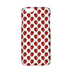 Fresh Bright Red Strawberries on White Pattern Apple iPhone 6/6S Hardshell Case