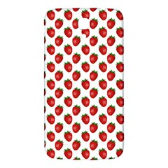 Fresh Bright Red Strawberries on White Pattern Samsung Galaxy Mega I9200 Hardshell Back Case