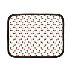 Natural Bright Red Cherries on White Pattern Netbook Case (Small)