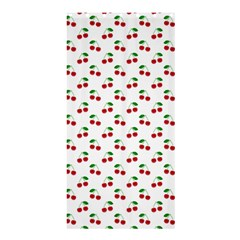 Natural Bright Red Cherries on White Pattern Shower Curtain 36  x 72  (Stall)