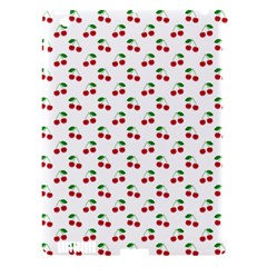 Natural Bright Red Cherries on White Pattern Apple iPad 3/4 Hardshell Case (Compatible with Smart Cover)