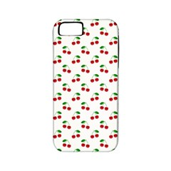 Natural Bright Red Cherries on White Pattern Apple iPhone 5 Classic Hardshell Case (PC+Silicone)