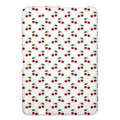 Natural Bright Red Cherries on White Pattern Kindle Fire HD 8.9