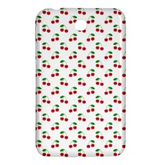 Natural Bright Red Cherries on White Pattern Samsung Galaxy Tab 3 (7 ) P3200 Hardshell Case