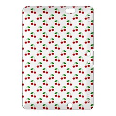 Natural Bright Red Cherries on White Pattern Kindle Fire HDX 8.9  Hardshell Case