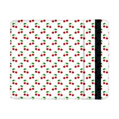 Natural Bright Red Cherries on White Pattern Samsung Galaxy Tab Pro 8.4  Flip Case