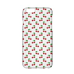 Natural Bright Red Cherries on White Pattern Apple iPhone 6/6S Hardshell Case