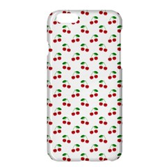 Natural Bright Red Cherries on White Pattern Apple iPhone 6 Plus/6S Plus Hardshell Case