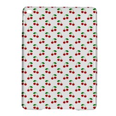 Natural Bright Red Cherries on White Pattern iPad Air 2 Hardshell Cases