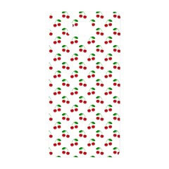 Natural Bright Red Cherries On White Pattern Samsung Galaxy Alpha Hardshell Back Case