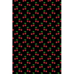 Natural Bright Red Cherries on Black Pattern 5.5  x 8.5  Notebooks