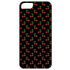 Natural Bright Red Cherries on Black Pattern Apple iPhone 5 Classic Hardshell Case