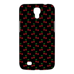 Natural Bright Red Cherries on Black Pattern Samsung Galaxy Mega 6.3  I9200 Hardshell Case