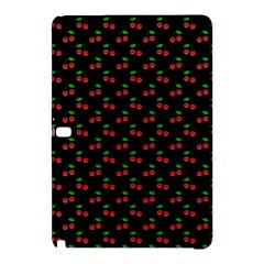Natural Bright Red Cherries on Black Pattern Samsung Galaxy Tab Pro 12.2 Hardshell Case