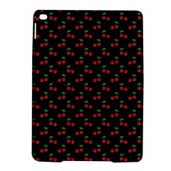 Natural Bright Red Cherries on Black Pattern iPad Air 2 Hardshell Cases
