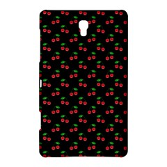 Natural Bright Red Cherries on Black Pattern Samsung Galaxy Tab S (8.4 ) Hardshell Case
