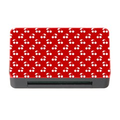 White Cherries On White Red Memory Card Reader With Cf