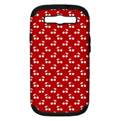 White Cherries On White Red Samsung Galaxy S III Hardshell Case (PC+Silicone)
